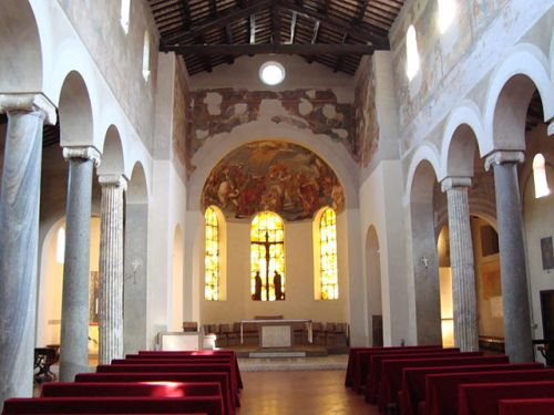 Interior of the Basilica of Saint John at the Latin Gate same-sex marriage in Renaissance Rome