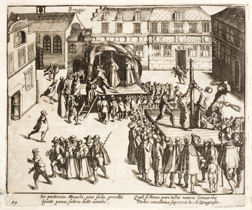 Execution of monks for homosexuality, Bruges, 26 July 1578