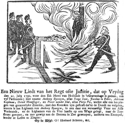 Burning Sodomites Netherlands 1730 Een_nieuw_liedt_van_Regt_ofte_Justitie