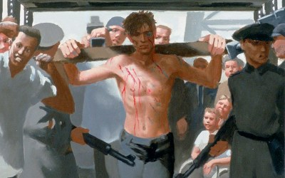 Day 6A: Jesus is mocked, beaten, goes to his execution and is nailed to the cross (Gay Passion of Christ series)