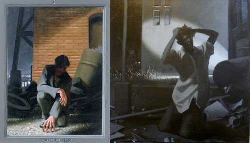 """""""Jesus Prays Alone (The Passion of Christ: A Gay Vision),"""" original and new versions by Doug Blanchard"""