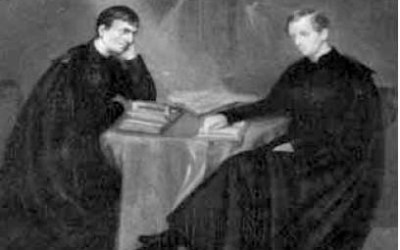 "John Henry Newman and Ambrose St. John: Gay saint and his ""earthly light"" share romantic friendship"