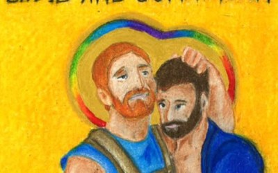 New icons of Queer Saints created by artist Katy Miles-Wallace