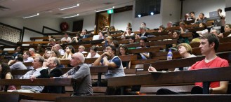 Audience at the General Lecture Theatre, Quadrangle, for the 7th Annual Michael Hintze Lecture in International Security