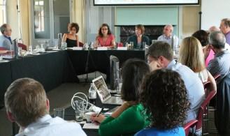 Panel speakers from left to right: Carolin Kaltofen, CISS/Aberystwyth; Charlotte Epstein, CISS; Rebecca Adler-Nissen, University of Copenhagen; Roland Bleiker, University of Queensland