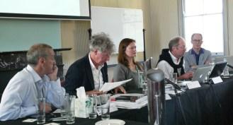 Speakers from left to right: Colin Wight, CISS; John Keane, USYD; Lene Hansen, University of Copenhagen; Thomas Biersteker, The Graduate Institute, Geneva; James Der Derian, CISS Director as panel moderator