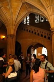 Q Lecture reception. Photo: Gilbert Bel-Bachir.