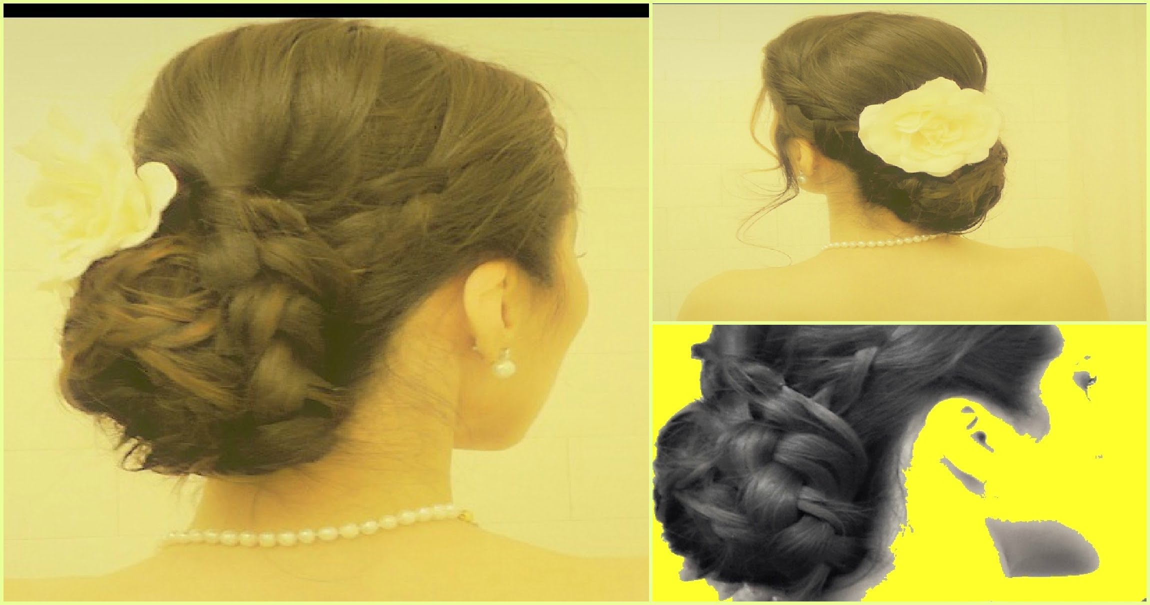 WEDDING HAIR TUTORIAL LOW BRAID BUN UPDOS For MEDIUM