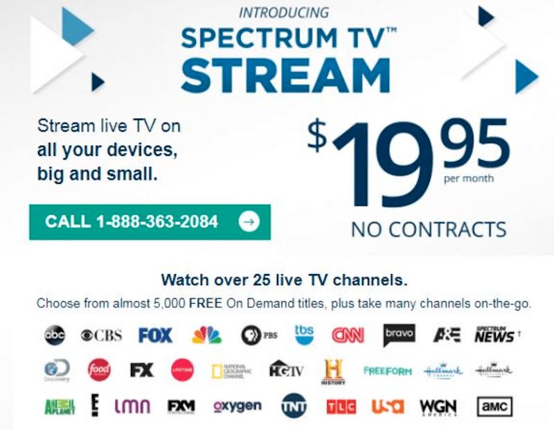 Charter testing $20, sports-less streaming skinny bundle ...
