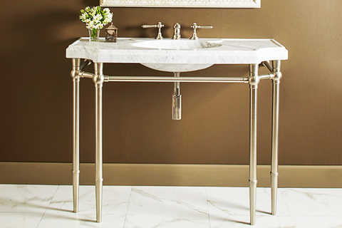 bayonne console sink from stone forest