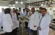 طلبة المرحلة الخامسة في كلية الطب البيطري / جامعة القادسية يقومون بعملية تقليم الاذن