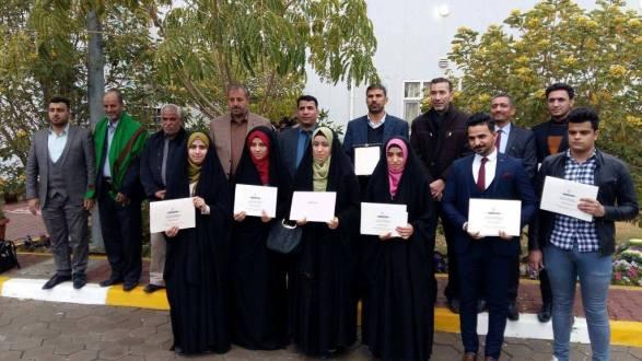 الأمانة العامة للعتبة العباسية تكريم الطلبة الأوائل في جامعة القادسية