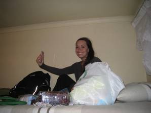 Emily bunking at Lebo's Soweto Backpackers