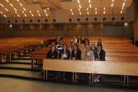 Students in lecture hall at University of Pretoria.
