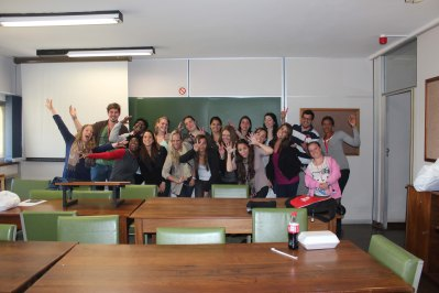 Quinnipiac University & University of Pretoria students group shot- Fun shot