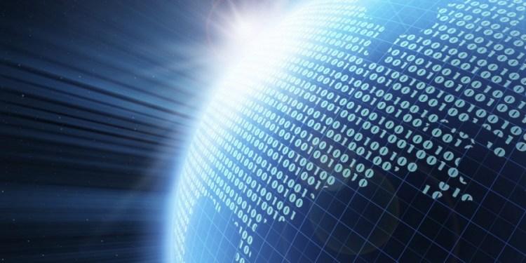 Imagen del globo terraqueo con datos