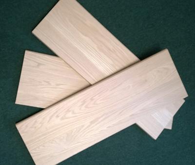 Hardwood Stair Treads Quabbin Timber Inc   White Oak Stair Treads   Modern Farmhouse   Wooden   Solid Oak   Wood Stair   Custom
