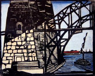 The bridge pylon - Margaret Preston