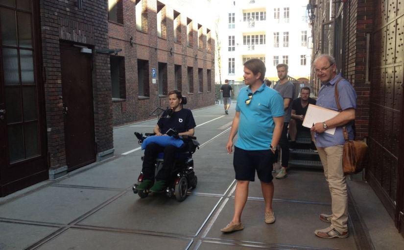 Power Wheelchair Drive to My Office in Berlin Kreuzberg