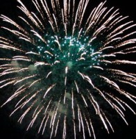 blue fireworks featured