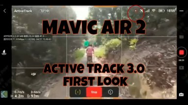 DJI Mavic Air 2 Active Track 3.0 First look leaked footage