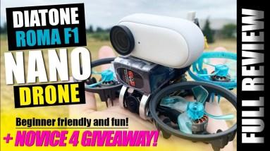 Diatone ROMA F1 Ultra Micro Fpv Drone - REVIEW & GIVEAWAY! 🏆