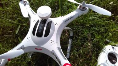 Cheerson CX 20 Quadcopter Test Flight Camera Footage - Amkov 5000s Camera