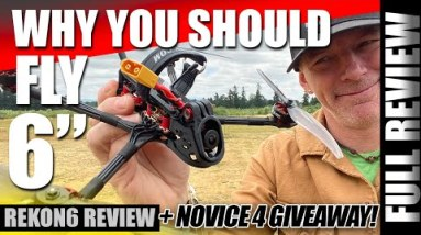 """WHY YOU SHOULD FLY 6""""... Hglrc REKON6 Lone Range Fpv Drone - REVIEW & GIVEAWAY! 🏆✈️"""