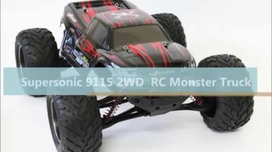 Supersonic 9115 RC Monster Truck Stunts and Test Drive Banggood