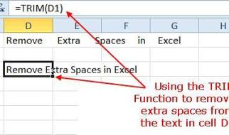 Remove Extra Spaces Between Data in Excel