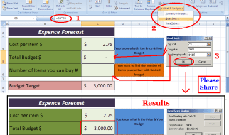 Learn Goal Seek Method Most Useful Forecasting Tool