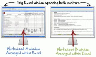 Multiple Excel Worksheets Side-by-Side