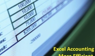 Excel accounting more efficient