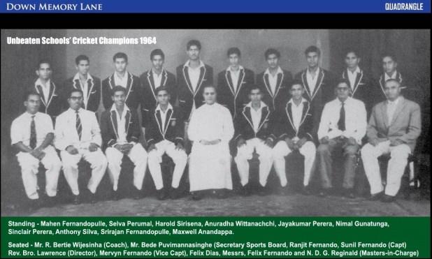 1964 Unofficial Schools Cricket Champions - St. Benedict's College