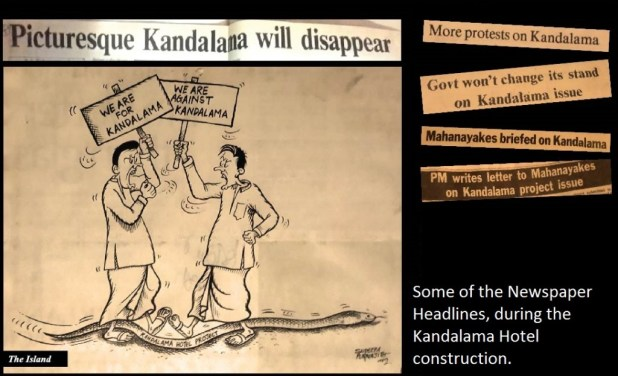 Paper cuttings - Headlines on Kandalama Hotel construction