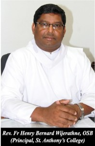 Fr. Henry Wijeratne, Principal St. Anthony's College Kandy