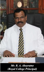 Mr. B.A. Abeyratne, Principal Royal College, Colombo