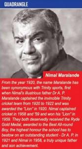 Nimal Maralande - Trinity College Kandy