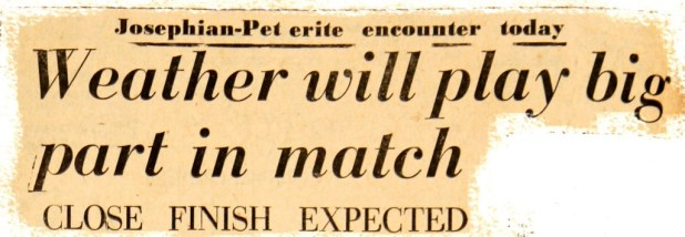 Match preview - 1962 Battle of the Sainst