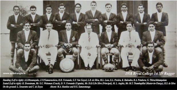 1958 Royal College 1st XV