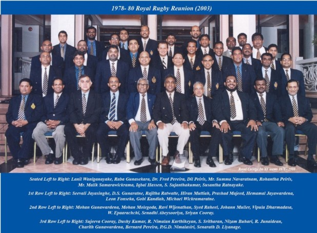 Royal Rugby 1978-1980 Reunion 2003