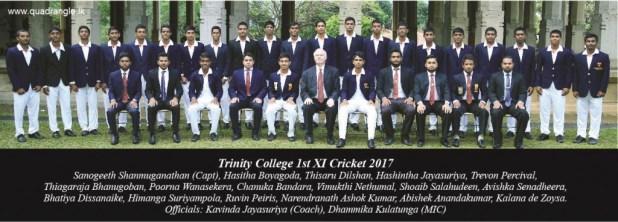 Trinity College Kandy 1st XI Cricket 2017