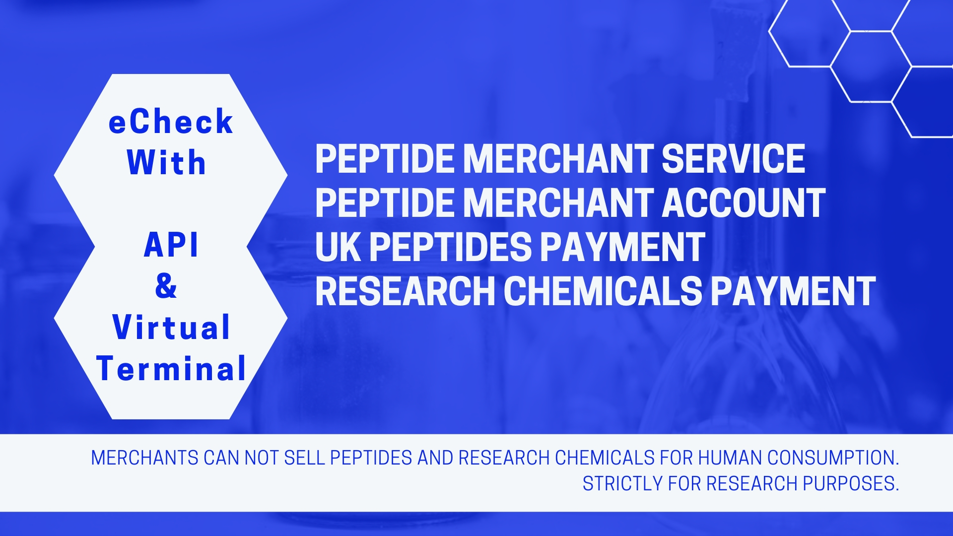 Peptide Merchant Account With Echeck