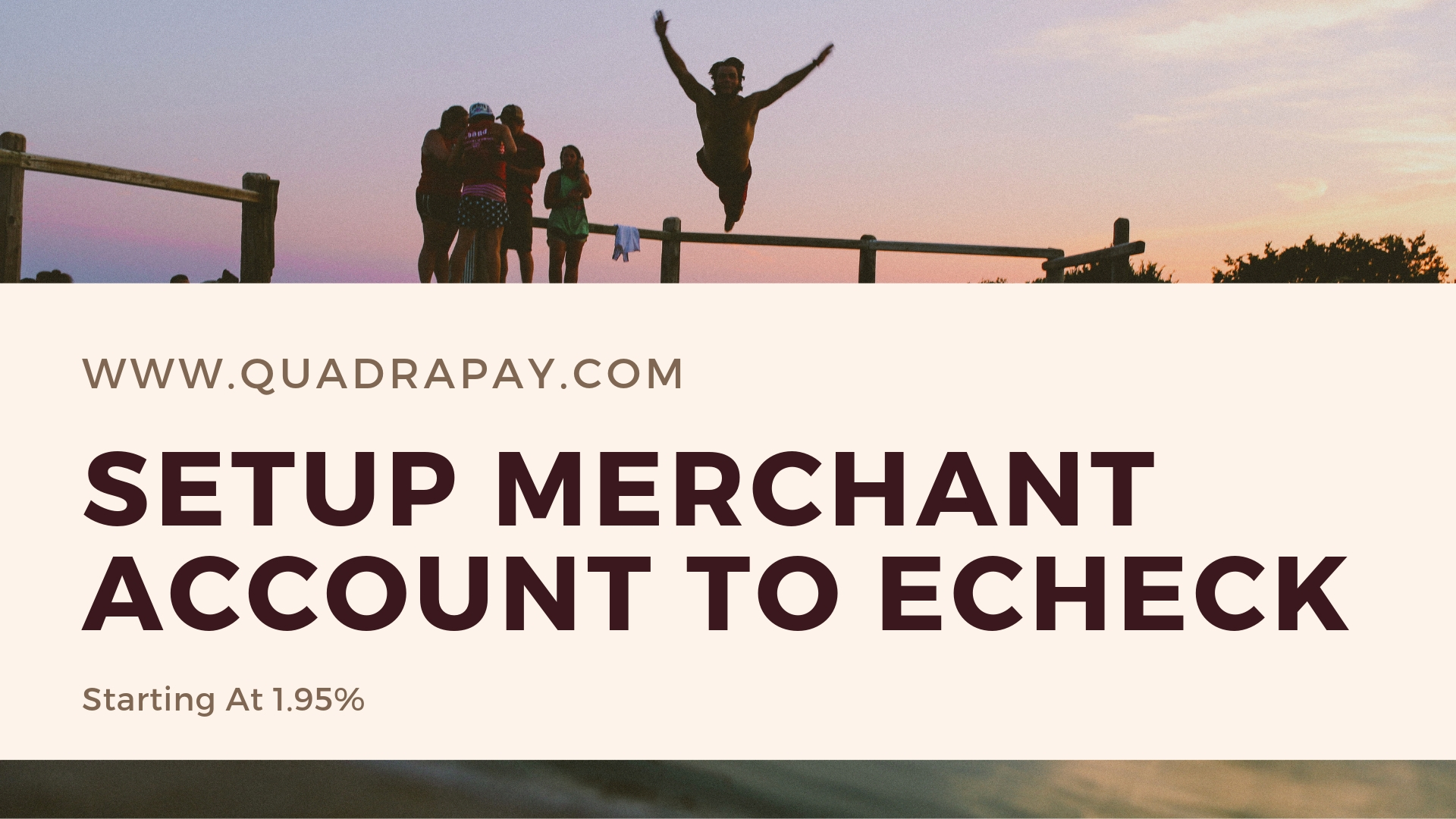 Setup Merchant Account To Echeck