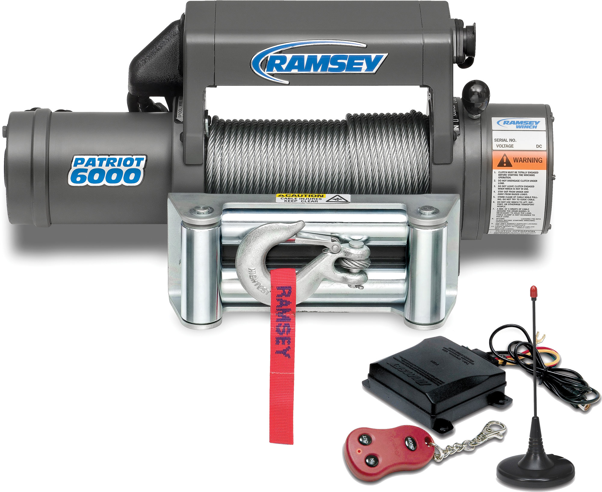 Ramsey 109158 Patriot 6000 Winch With Wireless Remote