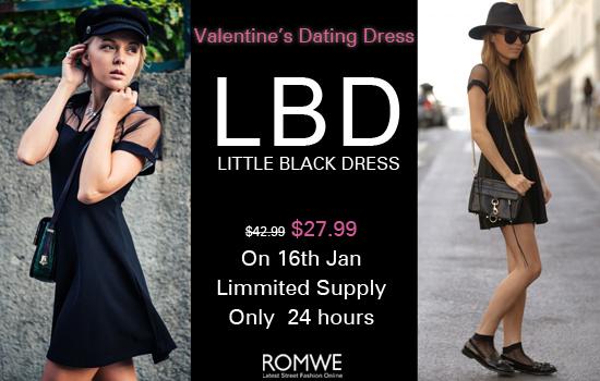 Little Black Dress Romwe