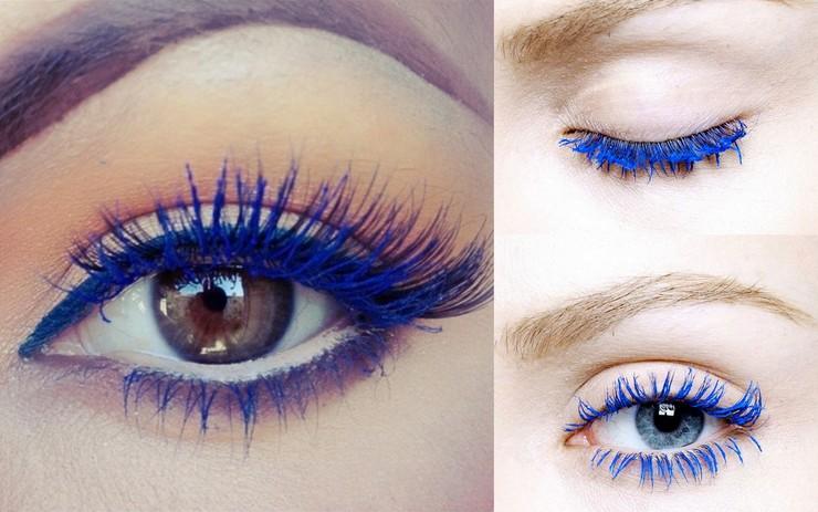 Máscaras de cílios - electric blue