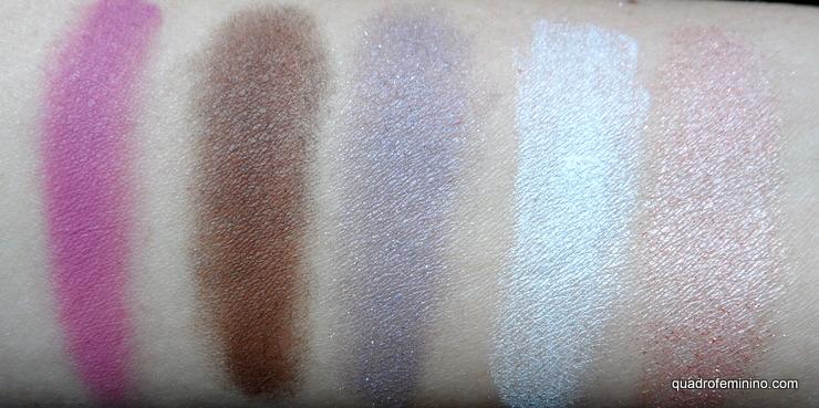 Quinteto de Sombras Natura Aquarela - Mistura de cores 01 (3)