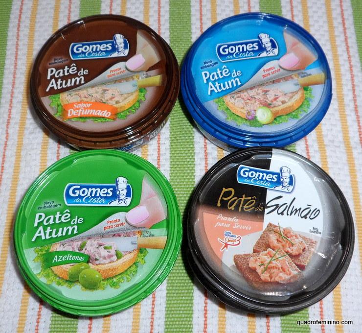 Patês de Atum e Salmão Gomes da Costa
