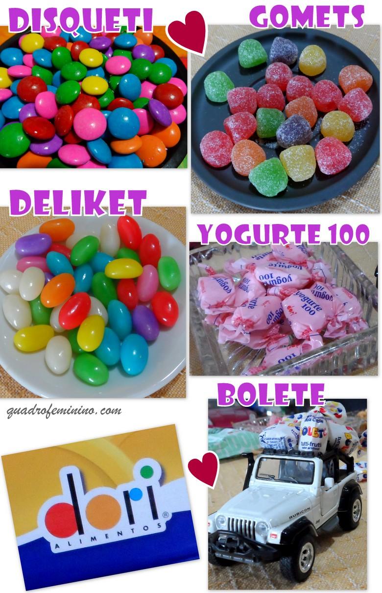 Dori Alimentos - Disquete, Gomets, Deliket, Yogurte 100, Bolete